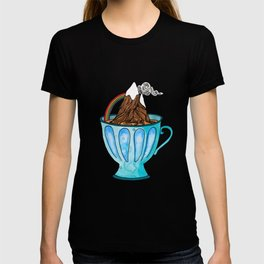 Tea Cup Mountain | Watercolor Illustration T-shirt
