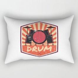 Drum Propaganda | Drummer Musician Band Rectangular Pillow