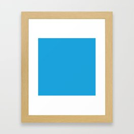 Oktoberfest Bavarian Blue Solid Color Framed Art Print