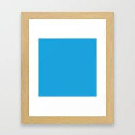 Oktoberfest Bavarian Blue Solid Color Framed Art Print