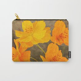 Bright Lights Cosmos Flowers Carry-All Pouch
