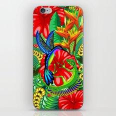The Lizard, The Hummingbird and The Hibiscus iPhone Skin