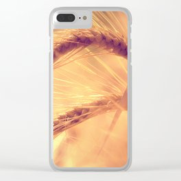 Summer romance in the grain field Clear iPhone Case