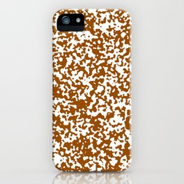 Small Spots - White and Brown iPhone Case