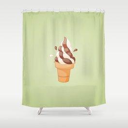 Swirl Icecream Shower Curtain
