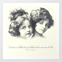 sisters Art Prints featuring Sisters by Carol Knudsen Photographic Artist