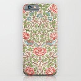 12,000pixel-500dpi - William Morris - Roses - Digital Remastered Edition iPhone Case