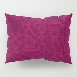 Abstract Minimalism in Raspberry Pillow Sham