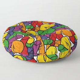 Schlong Song in Rainbow, All the Penis! Floor Pillow