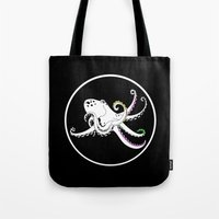 octopus Tote Bags featuring Octopus by mailboxdisco