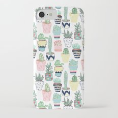 Cute Cacti in Pots Slim Case iPhone 7