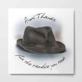 Hat for Leonard Cohen Metal Print