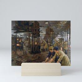 'The Munitions Girls' oil painting, England, 1918 Mini Art Print