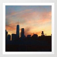 Skyline Sun Art Print