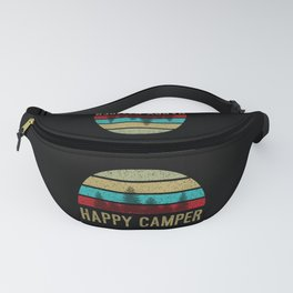Happy Camper Shirt Retro Distressed Fanny Pack