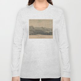 Vintage Pictorial Map of San Francisco CA (1850) Long Sleeve T-shirt