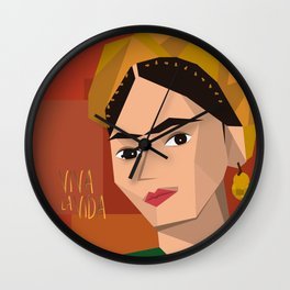 Frida Khalo Cubism Edition 2 Wall Clock