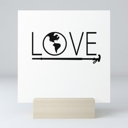 I love the world Mini Art Print