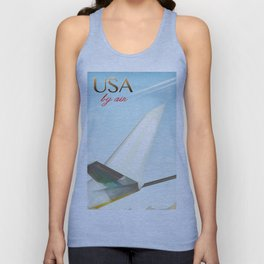 USA By Air vintage travel poster Unisex Tank Top