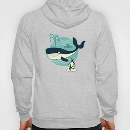 Whales and penguins Hoody