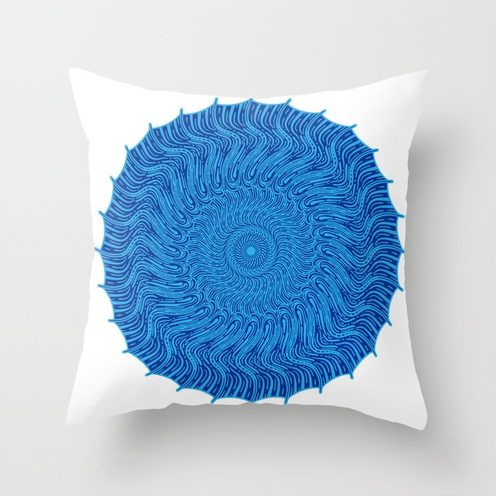 For when all you see is red Throw Pillow