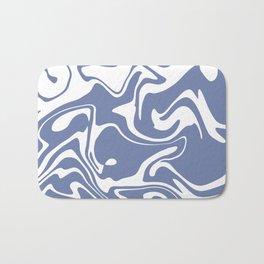 Soft Violet Liquid Marble Effect Design Bath Mat
