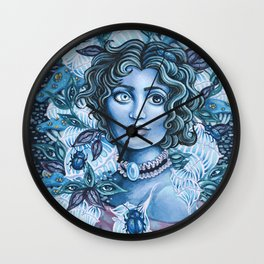 Blue Heterochromia Wall Clock