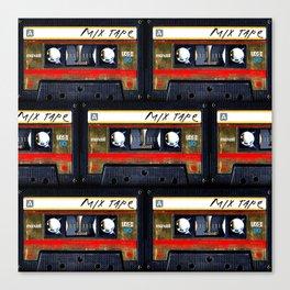 Retro classic vintage gold mix cassette tape Canvas Print