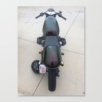 cafe racer Canvas Prints featuring Cafe Racer by OneLaneDesigns