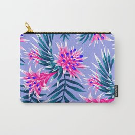 Aechmea Fasciata - Light Blue / Pink Carry-All Pouch