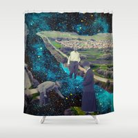 river Shower Curtains featuring River by Cs025