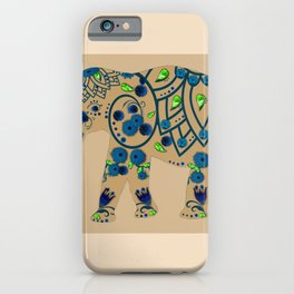 3D Elephant Garden iPhone Case
