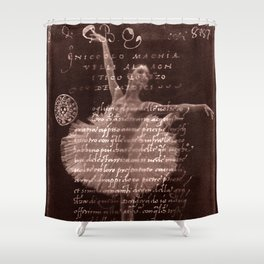 Ballerina III (brown edition) Shower Curtain