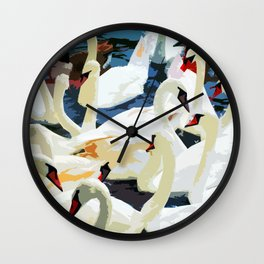 Swans on the Lake Wall Clock