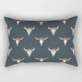 Texas Longhorns university floral crown pattern gifts college sports football fan Rectangular Pillow