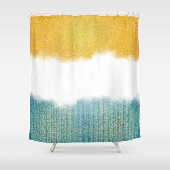 Teahupou0027o, Sea And Sand Shower Curtain
