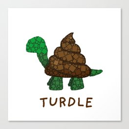 Turdle - Poop - Turtle - 57 Montgomery Art Canvas Print