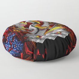 Marble Madness: Where Good Marbles Go To Die Floor Pillow