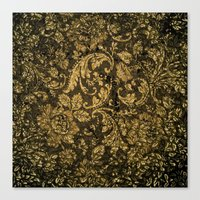 damask Canvas Prints featuring Decorative damask by nicky2342