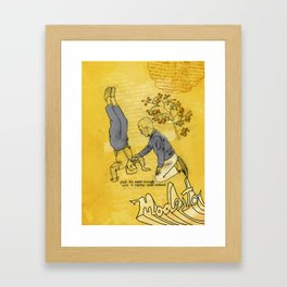 Modesto! Hiccup Framed Art Print