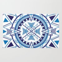 compass Area & Throw Rugs featuring Compass by Christie Evenson