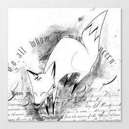 minima - deco fox Canvas Print