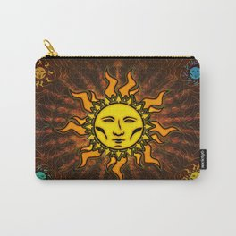 Light Sun #1 Psychedelic Character Icon Tapestry Carry-All Pouch