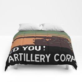 We need you! Coast Artillery Corps USA Comforters