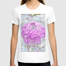 LILAC & WHITE PHLOX FLOWERS T-shirt