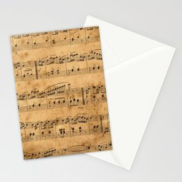 Music sheets, ancient Stationery Cards