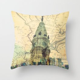 Oh Glorious Philly! Throw Pillow