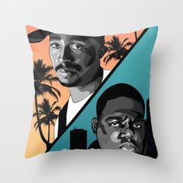 Rap Legends Throw Pillow