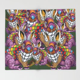Steampunk Bunny Rabbit Throw Blanket