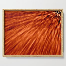 Burnt Orange Pixel Wind Serving Tray